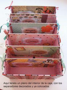 diy-caja  con separadores                                                                                                                                                                                 Más