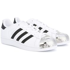 Adidas Originals Superstar Metal Toe Sneakers ($135) ❤ liked on Polyvore featuring shoes, sneakers, white, adidas originals shoes, white sneakers, white trainers, adidas originals trainers and adidas originals sneakers