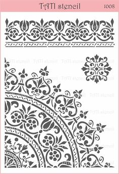 Stencils by TATI stencil Hobby & Decor - товары для рукоделия Wall Stencil Patterns, Stencil Painting, Stencil Designs, Printable Stencil Patterns, Stenciling, Mandala Stencils, Mandala Painting, Moroccan Stencil, Printable Designs