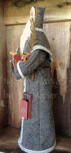 Primitive Folkart Old World Santa NeeSeY's WiNgS German