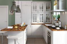 Beach House Kitchens, Home Kitchens, Sweet Home, Kitchen Cabinets, Interior, Ideas Prácticas, Furniture, Home Decor, Decoration