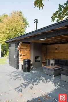 Garden Design Layout - New ideas Backyard Pavilion, Backyard Bar, Backyard Sheds, Backyard Patio Designs, Pergola Patio, Backyard Landscaping, Concrete Patios, Garden Buildings, Outdoor Kitchen Design