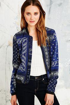 Denim & Supply Ralph Lauren Bandana Bomber Jacket