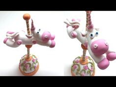 Carousel Unicorn- Polymer clay (Fimo) Tutorial - YouTube