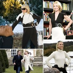 The Holiday: Cameron Diaz showed off a plethora of luxe Winter looks in The Holiday. From shearling coats to cashmere sweaters, her wardrobe was a chic mix of neutral pieces.