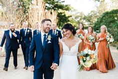 Are you thinking about having your wedding by the beach? Are you wondering the best beach wedding flowers to celebrate your union? Here are some of the best ideas for beach wedding flowers you should consider. Burnt Orange Bridesmaid Dresses, Burnt Orange Weddings, Orange Wedding Colors, Fall Wedding Colors, Orange Color, Bridal Party Color Schemes, Coral Weddings, November Wedding Colors, Wedding Bells