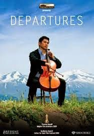 "Departures (""Okuribito"") Japan A newly unemployed cellist takes a job preparing the dead for funerals. Beautiful cello music too. (One of my top 10 movies: Sheila Chapman) Joe Hisaishi, Cello Music, Academy Award Winners, Academy Awards, Foreign Movies, Best Director, Movies Worth Watching, Japanese Film, Hero's Journey"