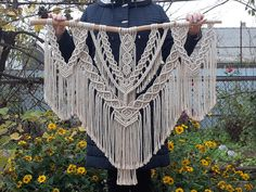 Excited to share the latest addition to my shop: Large Macrame Wall Hanging Bohemian Wall Decor Weaving Boho Home Decor Woven Macrame Wall Tapestry Boho Wall Art Bedroom Home Decor Tapestry Headboard, Boho Tapestry, Wall Tapestry, Bohemian Wall Decor, Bohemian Art, Macrame Wall Hanging Diy, Macrame Design, Amazon Gadgets, Etsy Shop