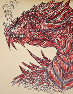 Creativity of Fià: Sketch: dragon
