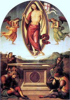 Resurrection of Christ by Pietro Perugino, Vatican Museums. #monogramsvacation