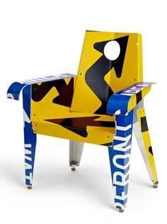 Upcycled Traffic Sign Furniture. @Deidra Brocké Wallace