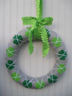 St. Patricks Day Wreath. $30.00, via Etsy.