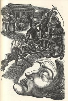 Fritz Eichenberg, illustrations to Crime and Punishment,1938.