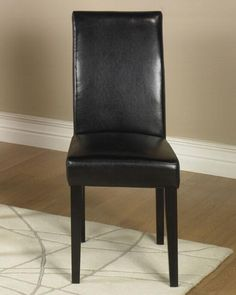 Black Leather Side Chair2 Pack Md-014 by Armen Living