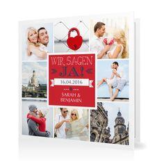 Hochzeitseinladung Mosaik in Kirsche - Klappkarte quadratisch #Hochzeit #Hochzeitskarten #Einladung #Foto #kreativ #modern https://www.goldbek.de/hochzeit/hochzeitskarten/einladung/hochzeitseinladung-mosaik?color=kirsche&design=25&utm_campaign=autoproducts
