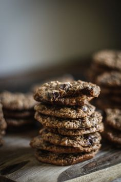 Oatmeal Hazelnut Chocolate Chip Cookies (With Nutella, too!)