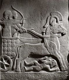Hittite, chariot and drivers, 850-800 BC, Museum of Anatolian Civilisations, Ankara
