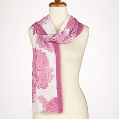 Pink Paisley Scarf at Cost Plus World Market