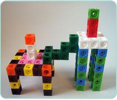 ¡Mis 10 materiales imprescindibles en primaria! - Aprendiendo matemáticas I Love Math, Fun Math, Maths, Kindergarten Math, Legos, Cube, Pattern, Toys, Ideas