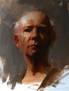 """Head Study 070512"" - Original Fine Art for Sale - © Qiang Huang"