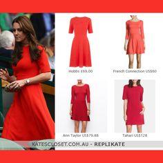 909e111bf8 LK Bennett Cayla Cardinal Red Dress - Kate Middleton Dresses