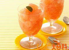 グレープフルーツのサイダーゼリー