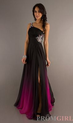 Ombré One Shoulder Gown, Nina Canacci Dresses for Prom - PromGirl