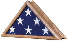 Urns Northwest  - Patriot Military Flag Case - Wall Mountable, $159.00 (http://urnsnw.com/patriot-military-flag-case-wall-mountable/) Solid oak wood burial flag display, made in the USA.
