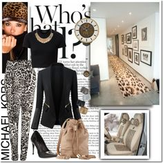 MK Animal by pmcdl on Polyvore featuring Michael Kors, Dolce Vita, See by Chloé, Sole Society, Mini Cream, Chanel, croptop, michaelkors, animalprint and pointedheels