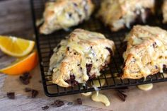 Orange and Dark Chocolate Scones... definitely trying these! The perfect warm January pick me up!