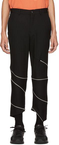 b9650268e5a5 Comme des Garçons Homme Plus Pantalon en laine à glissière noir €1050 EUR