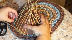 A shelf with a pocket. Weaving a pocket. Part 2
