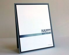 The Ultimate Clean & Simple Birthday Card for Men!