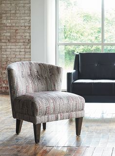 The versatile La-Z-Boy Nolita accent chair can easily work in both a living room or bedroom. Plus, PIN TO WIN an ottoman! Get contest details at http://houseandhome.com/la-z-boy | #LaZBoy #Furniture #Chair #LivingRoom