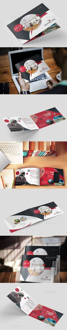 Brochure Landscape A5 — Photoshop PSD #us letter #landscape • Download ➝ https://graphicriver.net/item/brochure-landscape-a5/20423596?ref=pxcr