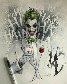 The Joker by Stephanie Lavaud - Batman Art - Fashionable and trending Batman Art - DC Comic Book Artwork The Joker by Stephanie Lavaud Le Joker Batman, Harley Quinn Et Le Joker, Der Joker, Joker Comic, Joker Art, Batman Art, Batman Stuff, Spiderman, Joker Drawings