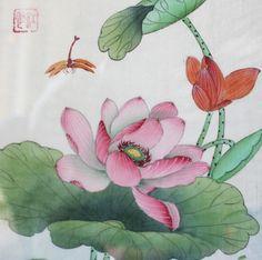 japanese painting lotus - Recherche Google