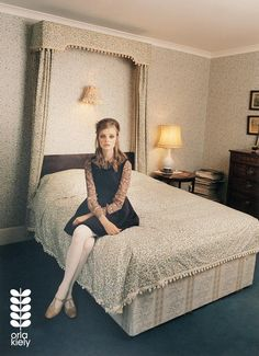 Model Nimue Smit wearing a whimsical chiffon blouse under an adorable black dress, white tights, and flats, shot by Venetia Scott for fashion designer Orla Kiely Orla Kiely, 1960s Fashion, Vintage Fashion, Fashion 2017, Vintage Outfits, White Tights, Fashion Images, Fashion Pictures, Clothes Horse