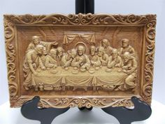 Vintage Christian The Last Supper Jesus Wall Plaque Easter Multi Products