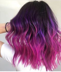 hair i NEED! 48 Ideen Haarfarbe Lila Ombre Magenta Hair Loss and Supplements Copyright 2006 Hair Color Purple, Hair Dye Colors, Cool Hair Color, Purple Ombre, Dark Pink Hair, Bright Purple Hair, Hot Pink Hair, Dyed Hair Purple, Lilac Hair