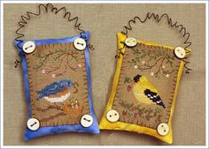 Button Up Birdies #4 - Cross Stitch Pattern by The Victorian Sampler