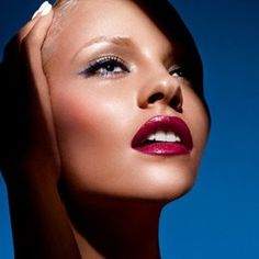 NARS Cosmetics Spring 2012 campaign-- love the deep blue liner winged out at the end and the bright lips
