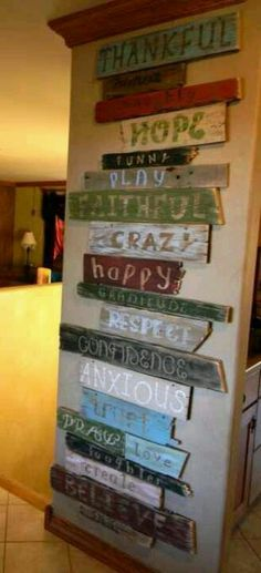 Sign (need to ask contractor for pallets next door!!) would be super cute to make this for wall in family room.....