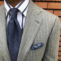18f9e701d Viola Milano woven prince of Wales Wool tie  amp  handrolled silk pocket  square worn by