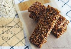 Homemade chocolate peanut butter granola bar - gluten-free and tastes better than store bought.