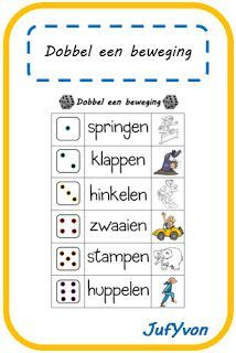 JufYvon: Gespot: dobbel een beweging Learning Activities, Kids Learning, Activities For Kids, School Sports, Kids Sports, Primary School, Pre School, Vlog, Exercise For Kids
