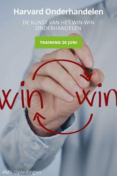 Harvard Onderhandelen Training 20 juni  AMV-Opleidingen