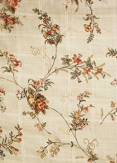 1796 Cotton Dress Fabric Sample, British. metmuseum.org              suzilove.com