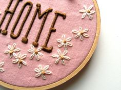 very cool idea for embroidering letters over stickers