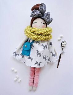Little doll Source by Doll Crafts, Diy Doll, Fabric Toys, Fabric Crafts, Doll Clothes Patterns, Doll Patterns, Creation Couture, Sewing Dolls, Little Doll